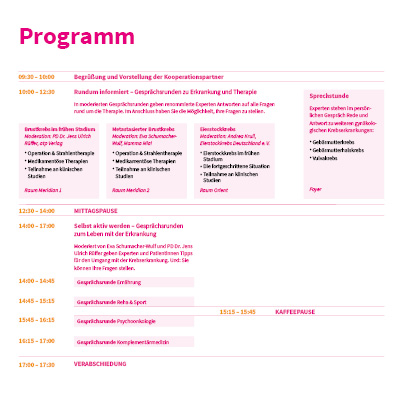 Mamma Mia Patientenkongress Programmflyer